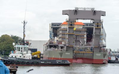 Launching new Boskalis' dredger Krios